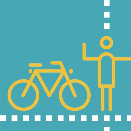 Bicicleta i persona