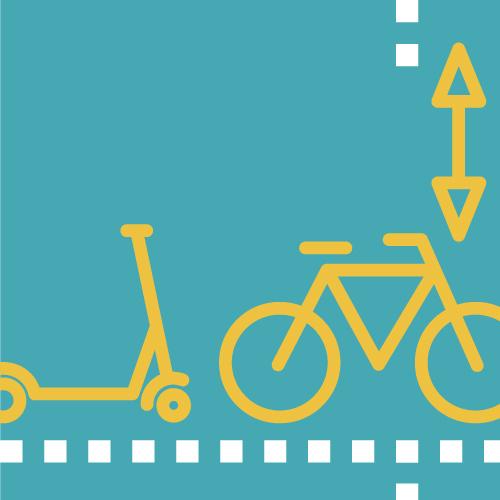 Patinet i bicicleta