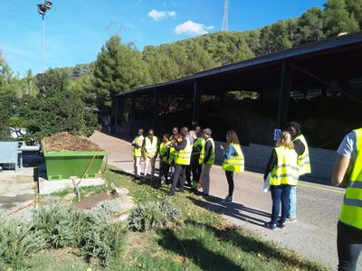 Visit to a waste treatment facility