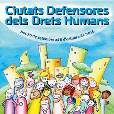 Poster for cities in defence of human rights