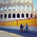 Image of a cyclist in Rome