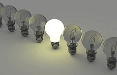 Light bulb symbolising Innovation and projects